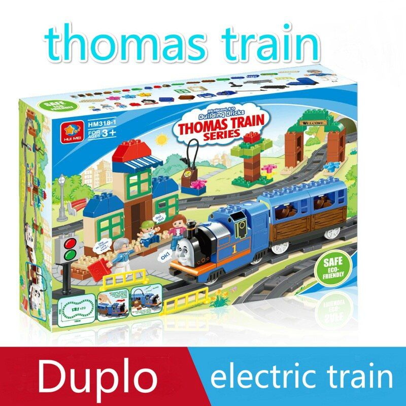 Thomas duplo train ensemble plaque duplo figurines Jouets Éducatifs compatible avec legoinglys duplo blocs de construction