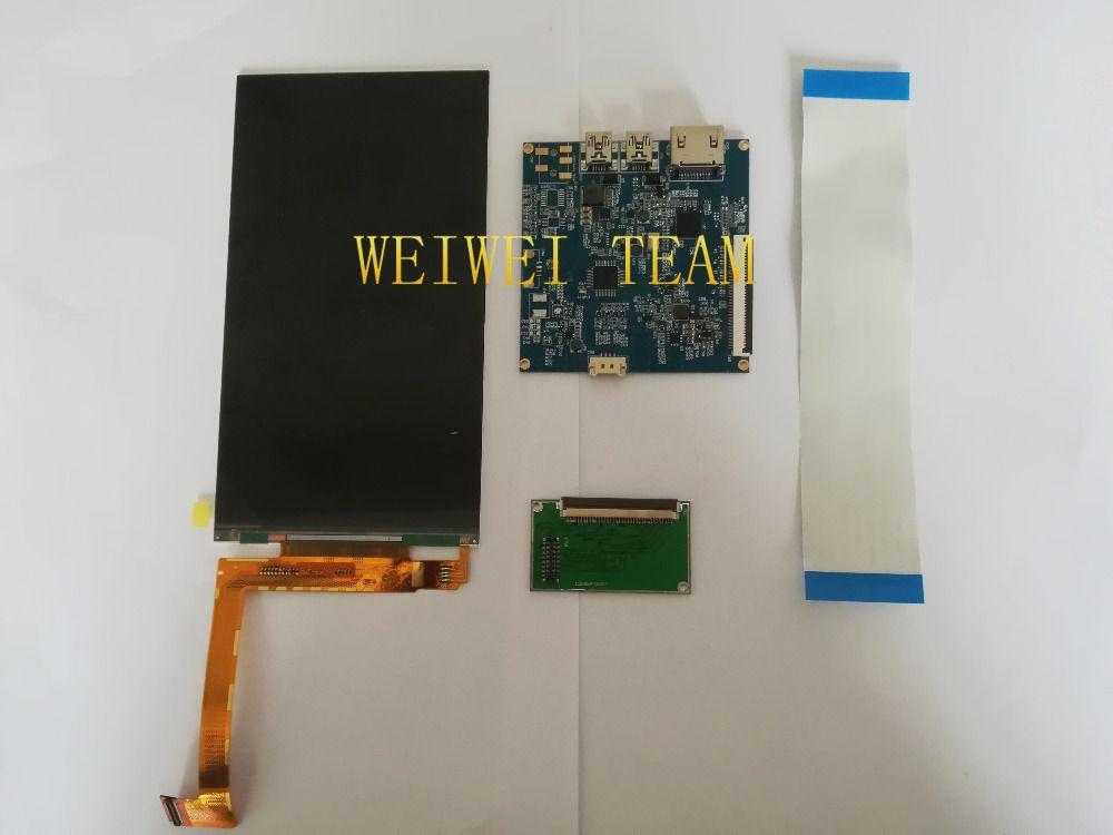 6 inch 2560*1440 2K LCD Module Screen VR Virtual Reality DIY DLP Projector Kit SLA 3D Printer Monitor 1440P LS060R1SX01