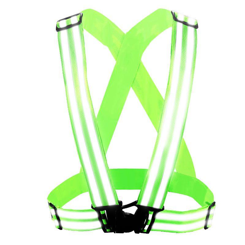 SPARDWEAR Reflective adjustable Vest belt Security Double Reflective Strips waistcoat belt  for outdoor night  jogging free post