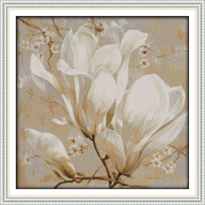 Belle fleur de Magnolia Imprimé Toile DMC Compté Chinois Point De Croix Kits imprimé Croix-point de Broderie Couture définir