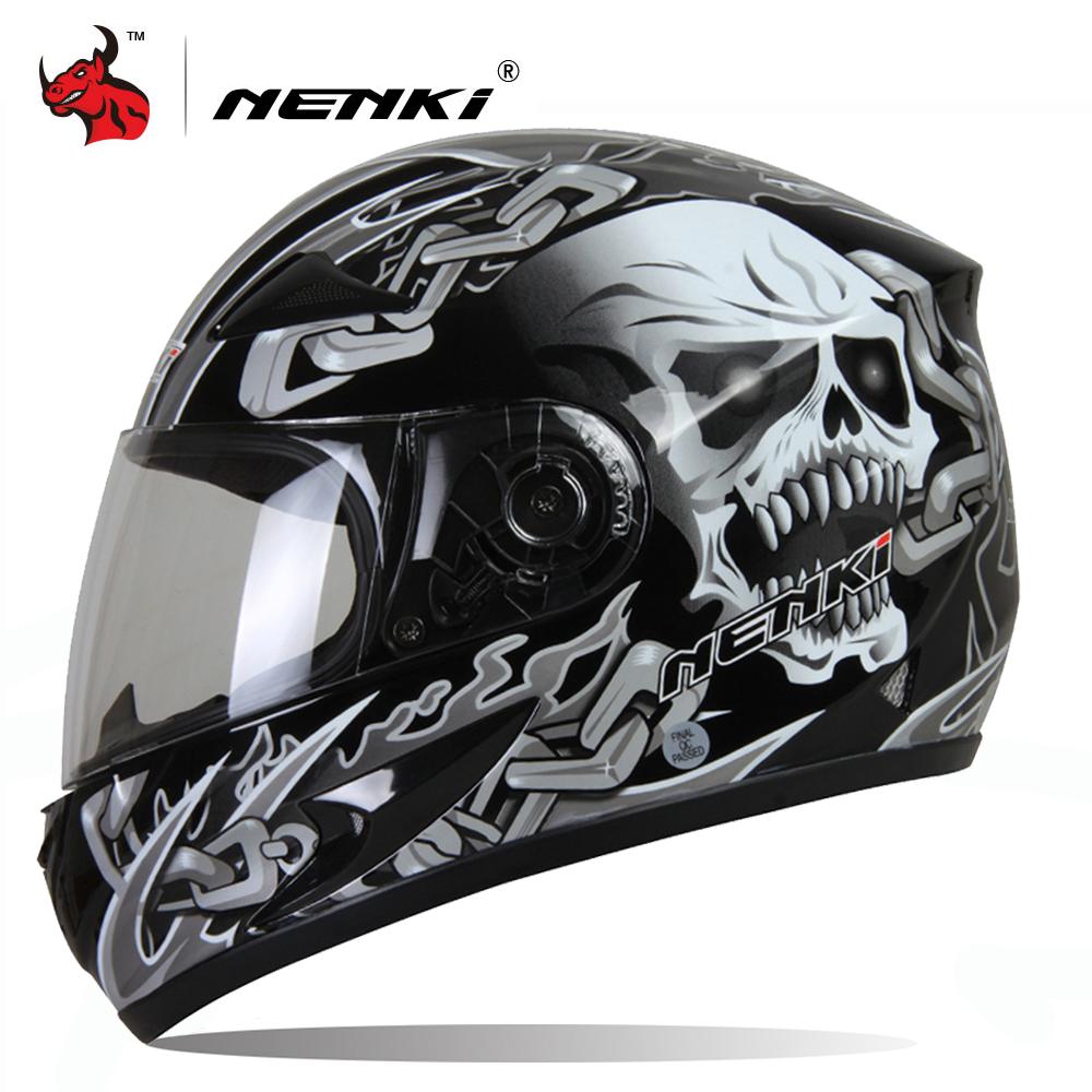 NENKI casque Moto Moto Motocross casque Moto intégral casque équitation Casco homme Moto Moto Capacete noir