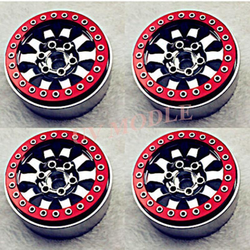 4 pcs RC 1/10 Sur Chenilles 1.9 Alliage Beadlock Jantes pour SCX10 CC01 F350 D90