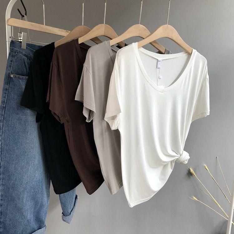 Fashion Slim Summer Black T Shirt Women 2017 New Planet Print Casual Slim Women Tops P30