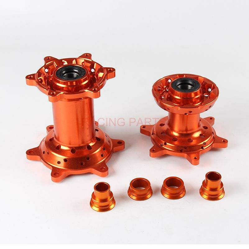 CNC Machined 36 Holes Front And Rear Wheel Hub and Rear Wheel Spacers For EXC EXC-F SX SX-F XCW Motocross Endupro Supermoto