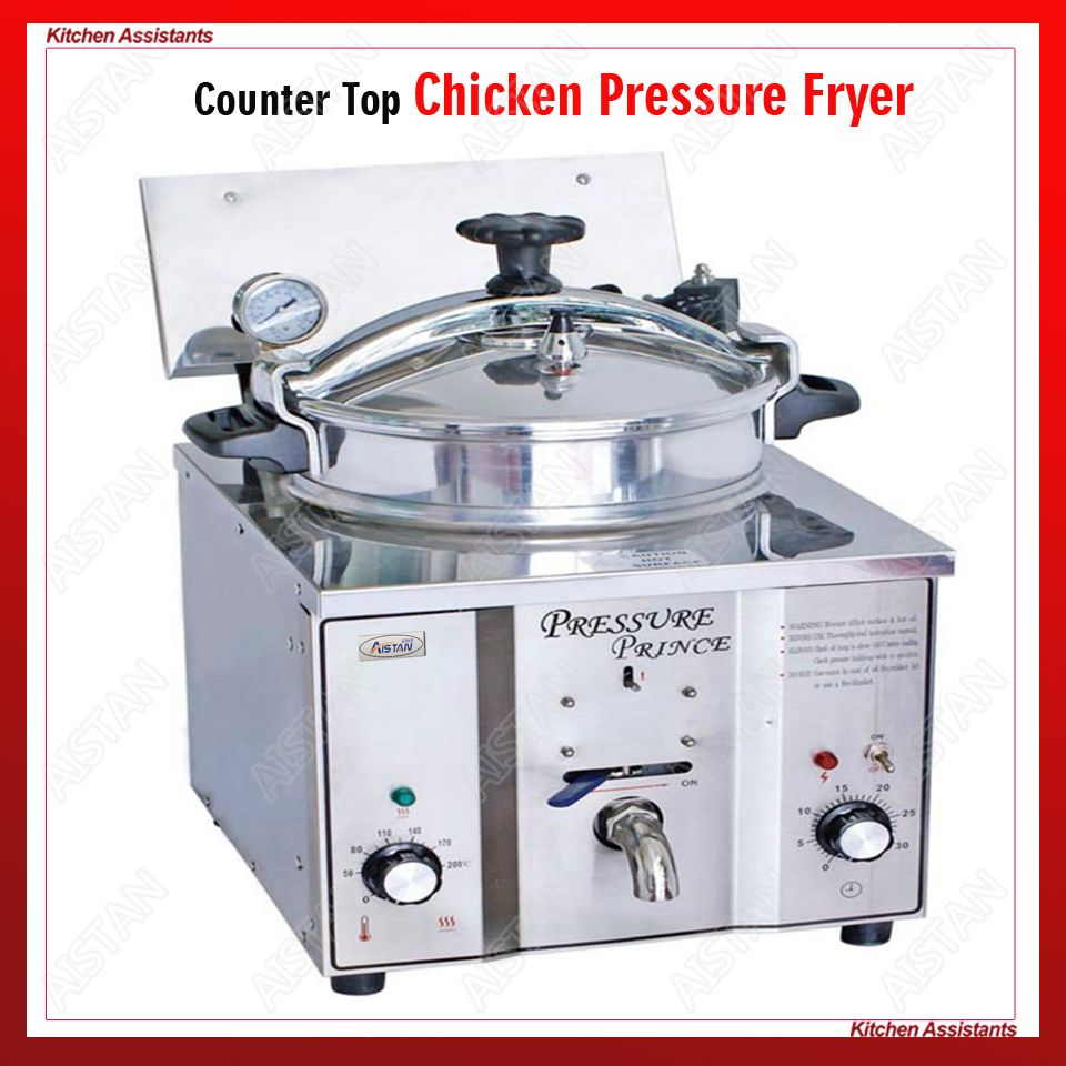 MDXZ16 mini counter top electric pressure fryer chicken potato oil deep fryer for KFC commercial kitchen restaurant