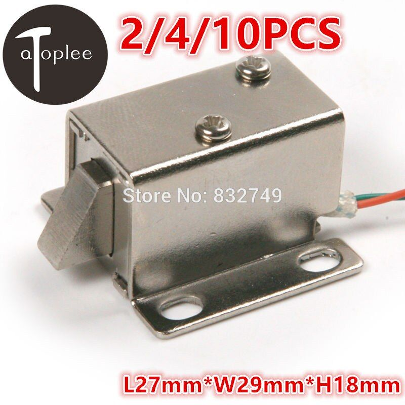 2/4/10PCS DC12V/350MA Cabinet Door Electric Lock Assembly Solenoid High Quality Ultra-Compact Locks