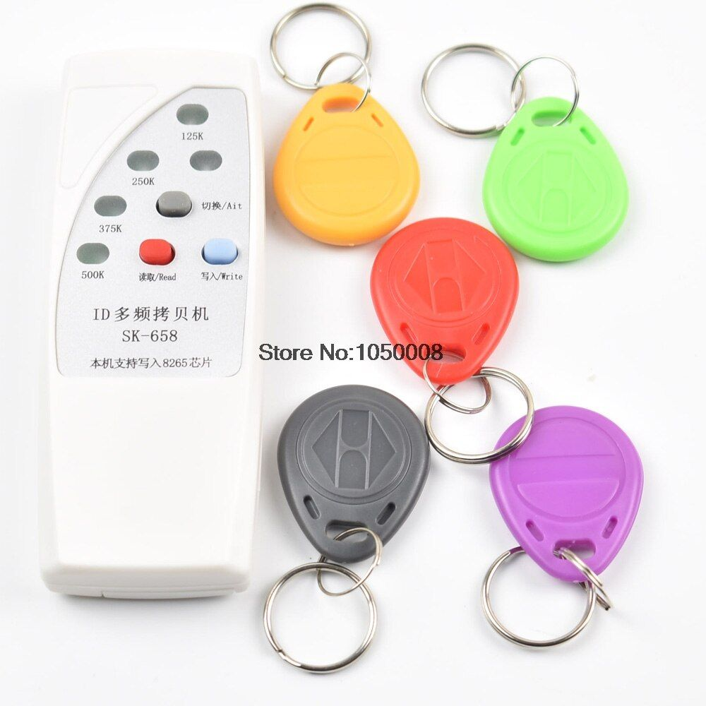 125 khz id-karte access control tür RFID Copier Duplicator Cloner EM reader writer + 5x EM4305 T5577 5200 beschreibbare schlüsselanhänger