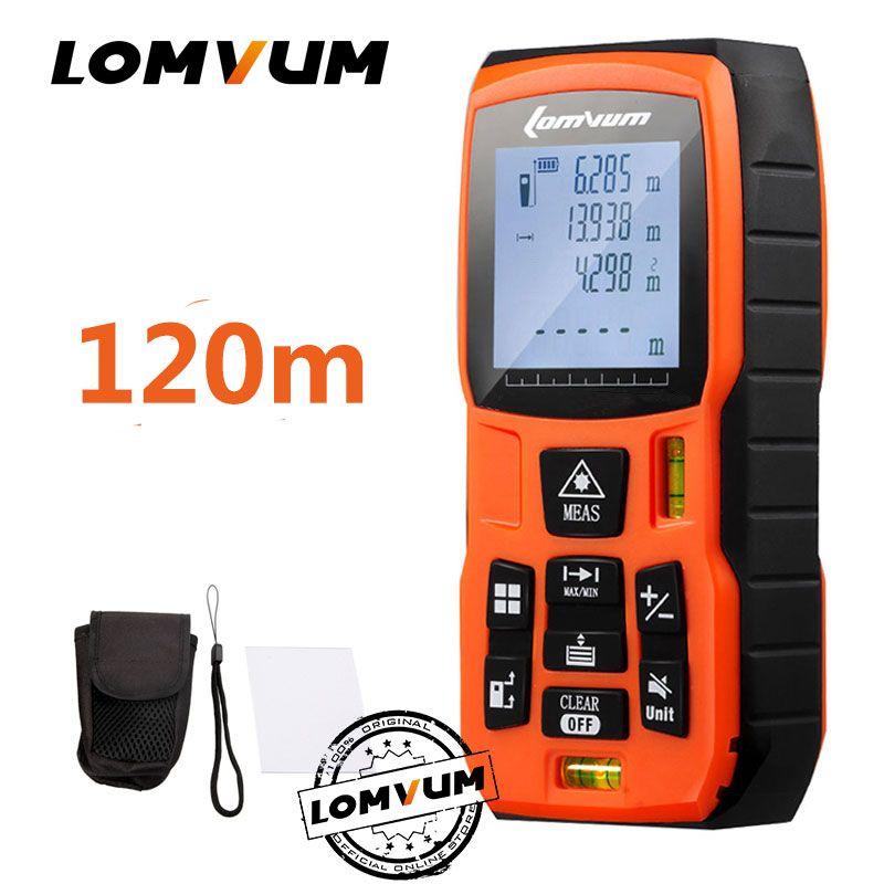 LOMVUM 40m trena mesure ruban medidor Laser règle télémètres numérique Distance mètre mesureur télémètre Laser metreler