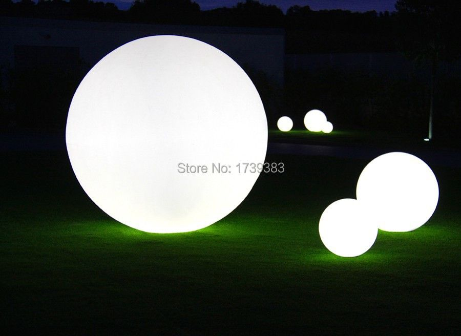 3pcs/set 20+30+50cm Combination styles Waterproof led ball lamp luminous landscape garden lights decorative lights floor lamps