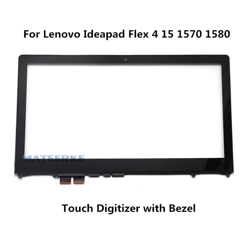 For Lenovo Ideapad Flex 4 15 Flex 4-1580 80VE 1570 80SB Touch Screen Digitizer Glass (with Bezel)