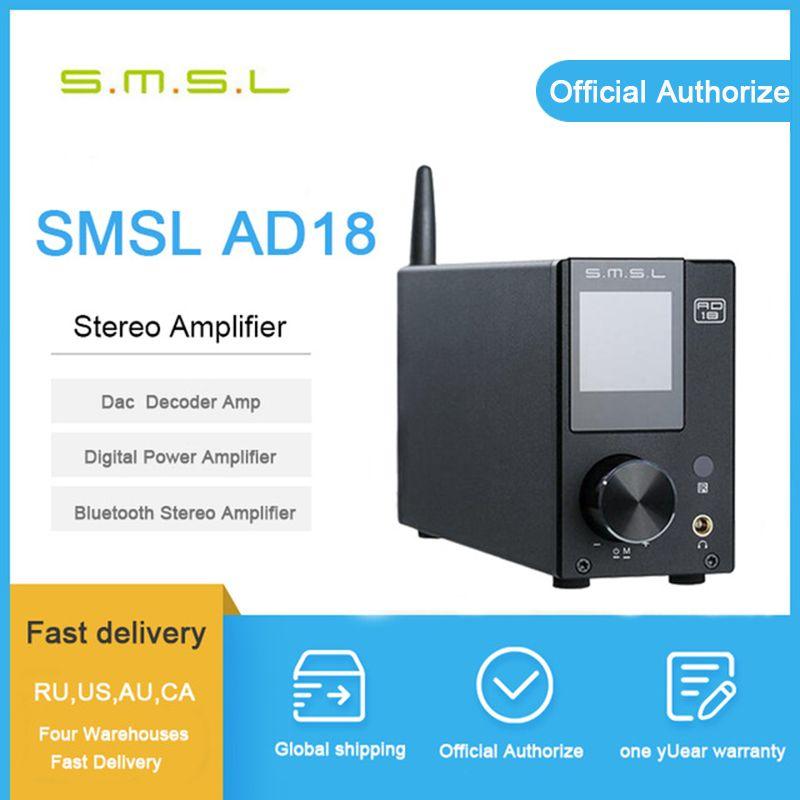 Smsl ad18 verstärker bluetooth audio verstärker power verstärker 80 w stereo usb digital amplificador audio mini amplificador