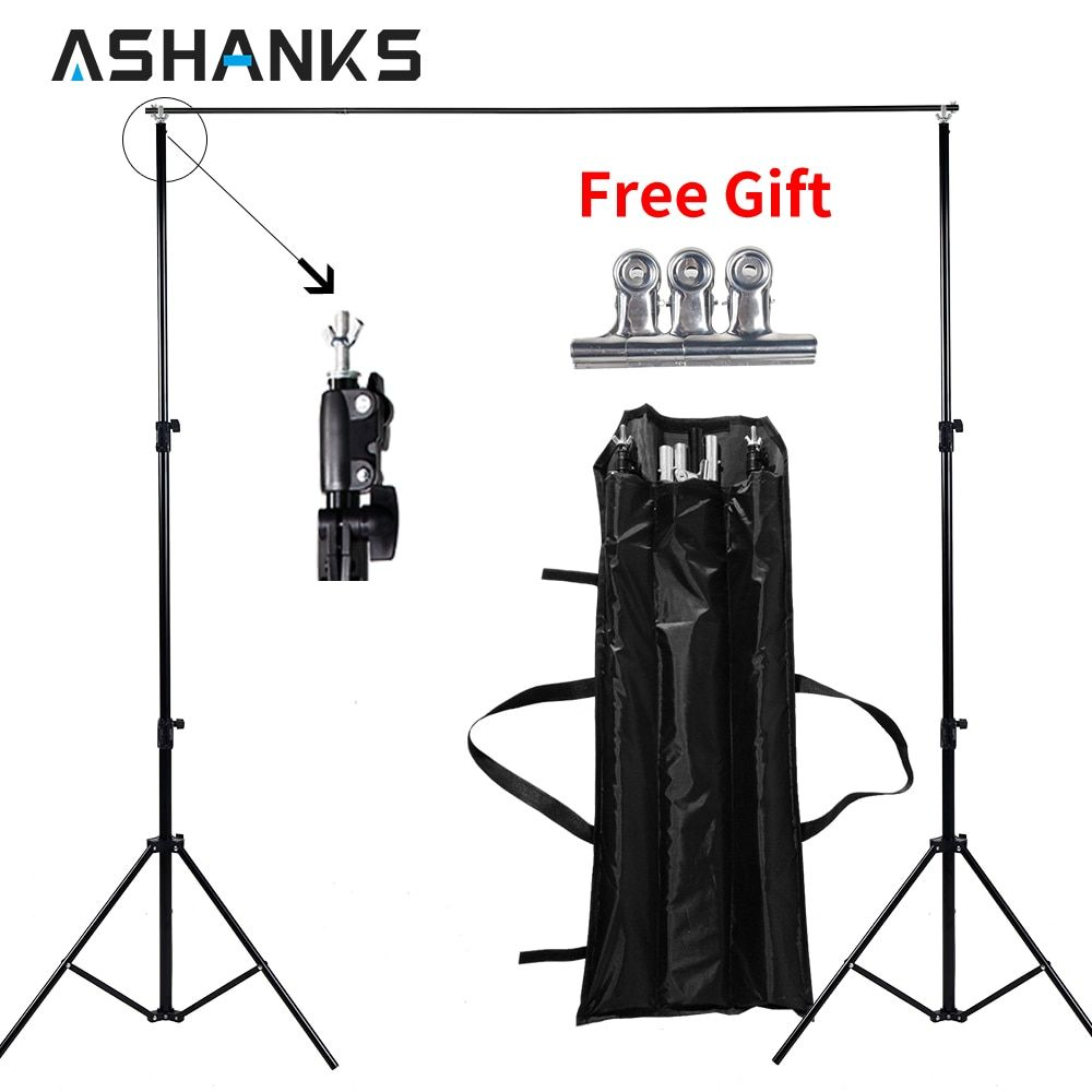 ASHANKS 6.5ft Background Stand Holder Photography Photo Backdrop Support System for Studio Video with Carrying Bag 2 Sizes