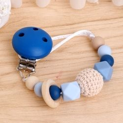 2017 Cute Baby Silicone Teething Dummy Pacifier Clip Bead Infant Soother Nipple Strap Chain    Gift NOV3_15