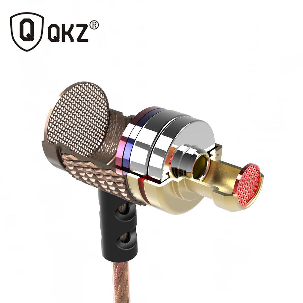 QKZ DM6 écouteurs intra-auriculaires professionnels écouteurs intra-auriculaires en métal lourd son DJ MP3 qualité casque musique fone de ouvido