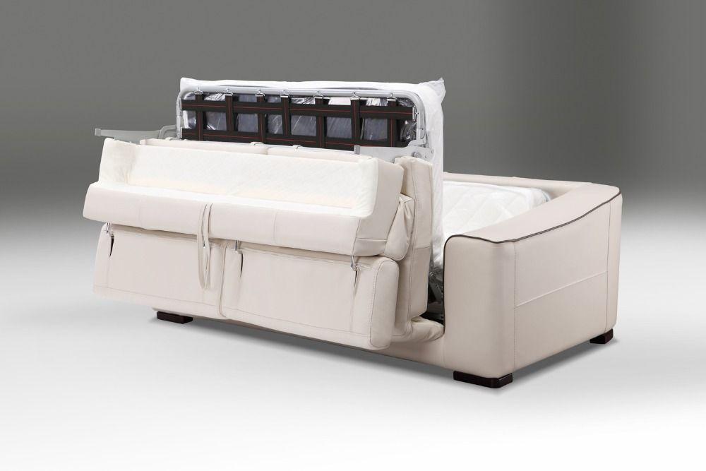 Echtes leder sofa bett wohnzimmer möbel couch/wohnzimmer schlafsofa und matratze moderne stil funktionskopfstütze