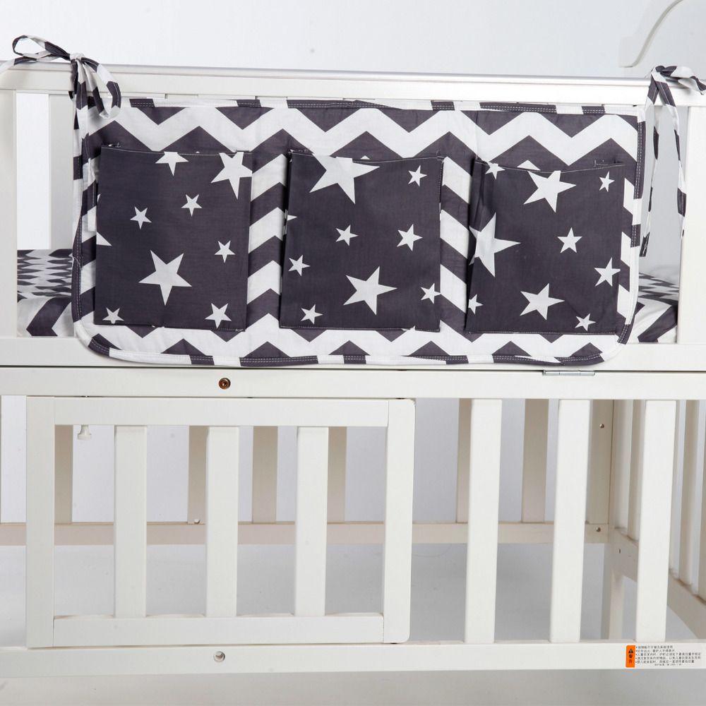 Детская кровать висит сумка для хранения хлопка новорожденных кроватки Организатор игрушка пеленки карман для кроватки Постельное белье И...