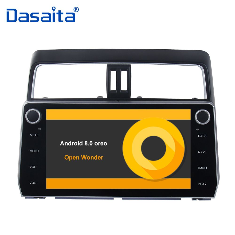 Android 8.0 Car Radio for Toyota New Prado 2018 Stereo GPS Navigation with 32G ROM 4G RAM Bluetooth