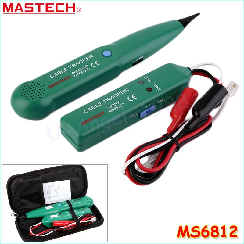 MASTECH MS6812 <font><b>Telephone</b></font> Phone Wire Network Cable Tester Line Tracker New