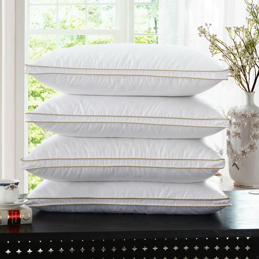 Peter Khanun Top Quality Brand Design White Duck Feather Neck <font><b>Health</b></font> Care Pillow 100% Cotton Allow The Feather To Breathe 007