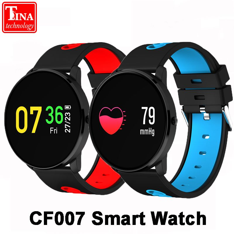 Original CF007 Color Screen Smart Watch Heart Rate Monitor Blood Pressure Monitor Smart Band Sport Tracker sport Bracelet