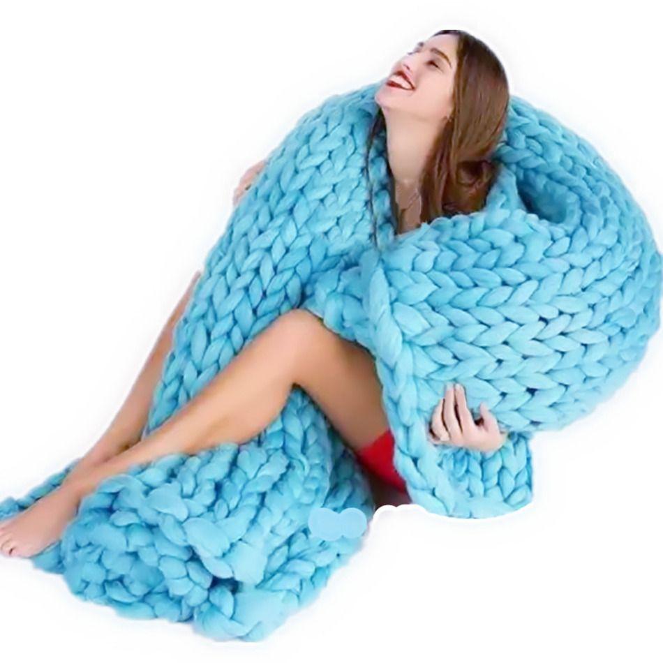 5 цветов принимать фото реквизит толстый линия трикотажные Одеяло смешивания анти-пилинг супер мягкий используется в кровать диван плоскос...