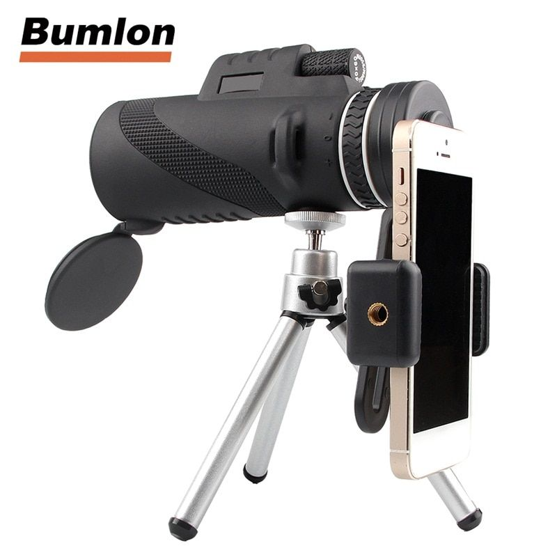 Outdoor Telescope HD 40x60 Monocular High <font><b>Definition</b></font> for Mobilephone Handheld with Tripod HT38-0006
