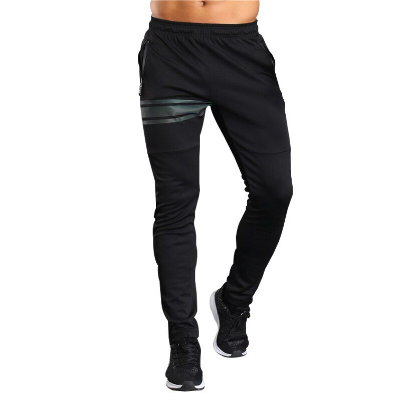 2018 Soccer Training Pants elastic Men With Zipper Pockets Jogging Trousers Fitness Workout Football Running Sport Pants