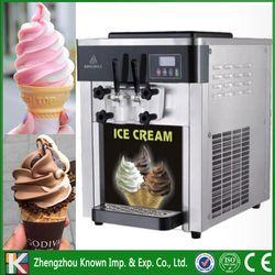 The 220 V/110 V dari 3 rasa meja top lembut melayani mesin es krim/es krim membuat mesin