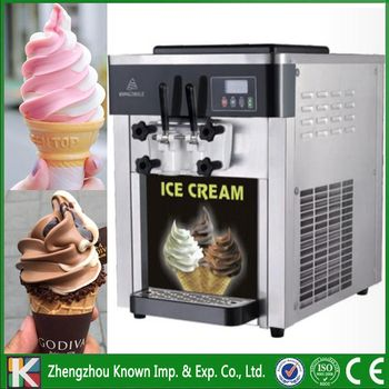 The 220V / 110V of 3 flavors table top soft serve ice cream machine / ice cream making machine