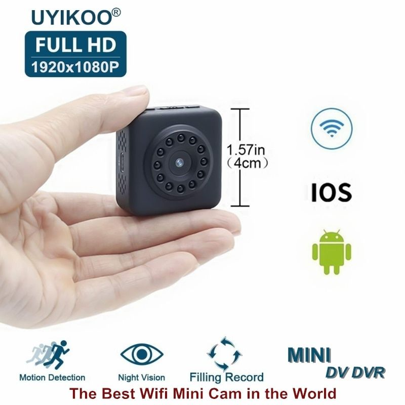 Full HD Video 1080P DV DVR Mini Camera Wifi Wireless IP Micro Camcorder With Invisible Night Vision and Motion Sensor PK C1 Cam