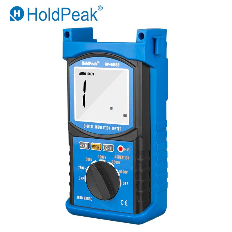 HoldPeak HP-6688B Insulation Resistance Tester New Arrival High Quality Digital 5000V Insulated Portable Tester Megohmmeter