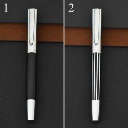 Mahasiswa Vintage Sederhana Gaya Garis Jinhao Merek Logam Fountain Pen Perak Cilp Canetas untuk Menulis Kaligrafi 4545