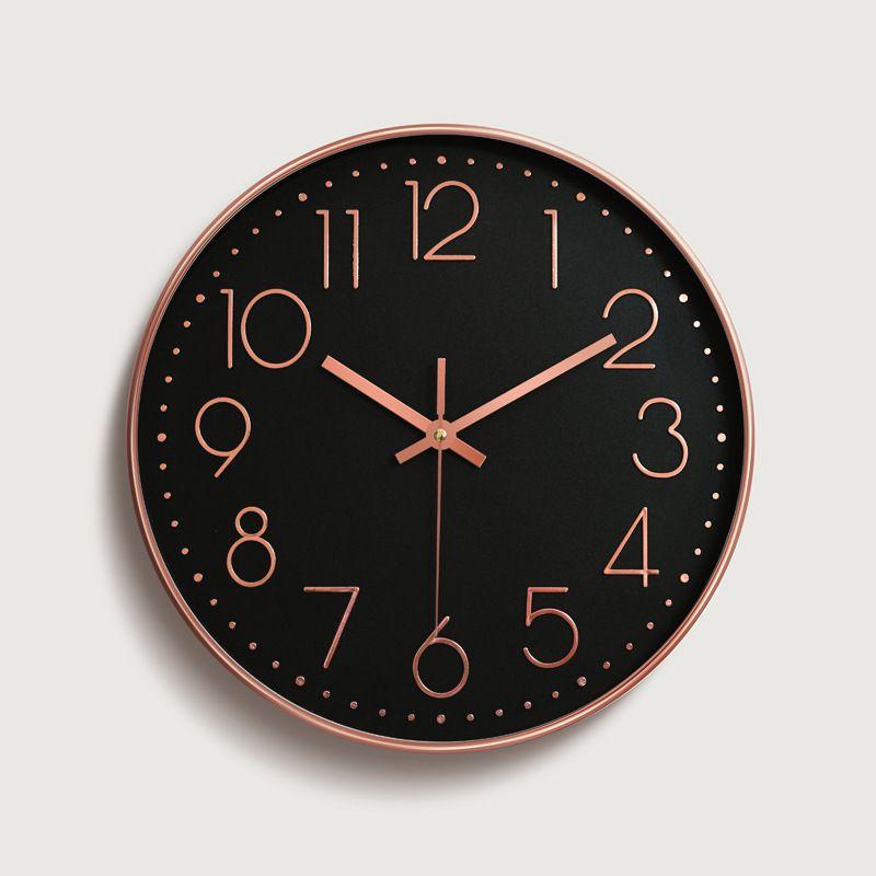 Meijswxj 12 inches Wall Clock Saat Reloj Clock Relogio de parede Duvar Saati Horloge Murale Mute Digital Wall Clocks Living room