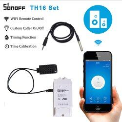 Sonoff TH16 Smart Wifi Switch Monitoring Temperature Humidity Wireless Wifi Smart Switch Home Automation Kit