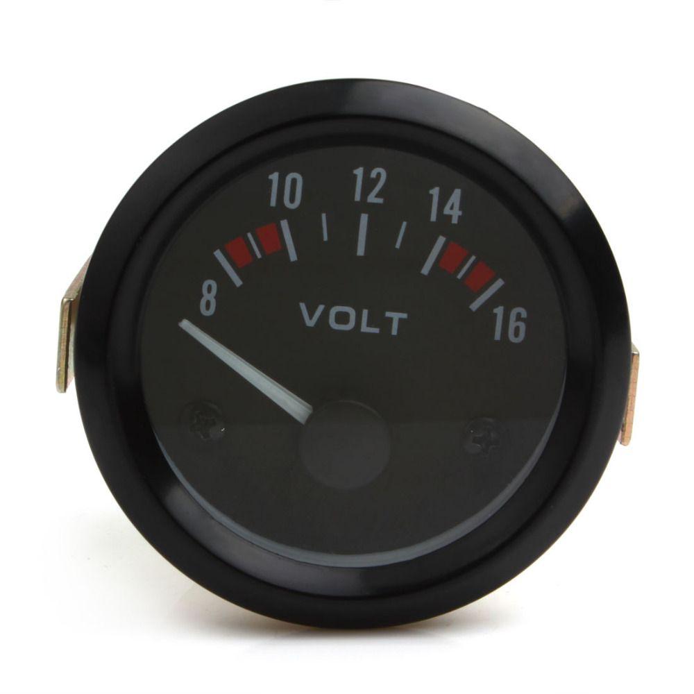 Newest Universal Voltmeter Gauge Meter 8-16V Racing Car 2inch volt Gauge Volts Gauge Meter 52mm Instrument
