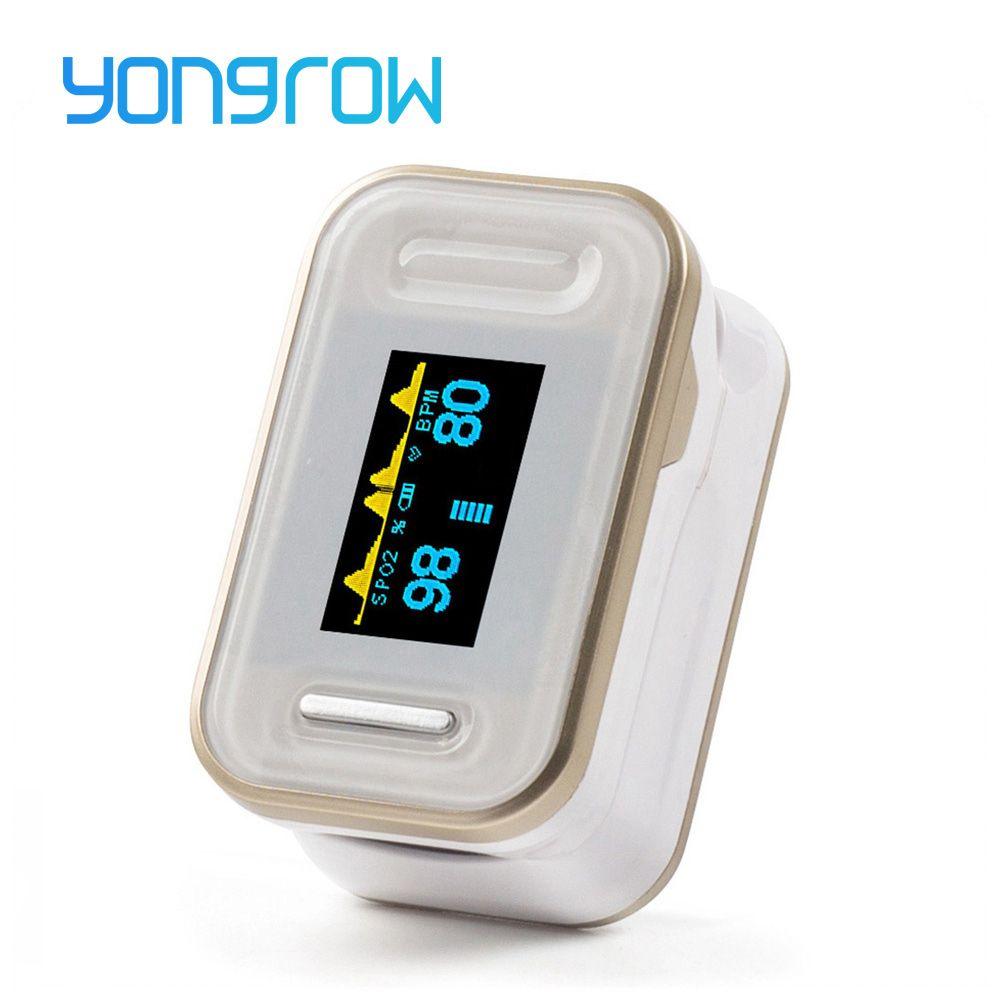Moniteur De fréquence cardiaque Oled Pulsioximetro oxymètre De pouls Yongrow oxymètre De pouls du bout des doigts