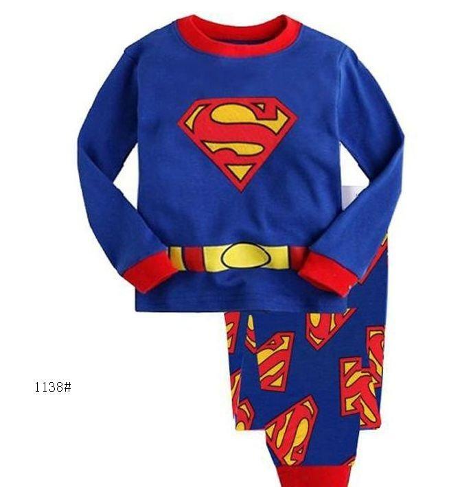 Pyjama enfant Superman costume bébé Pyjama pour garçons PJ'S filles Pijama ensembles enfants Pyjama bleu garçons vêtements de Sport costume