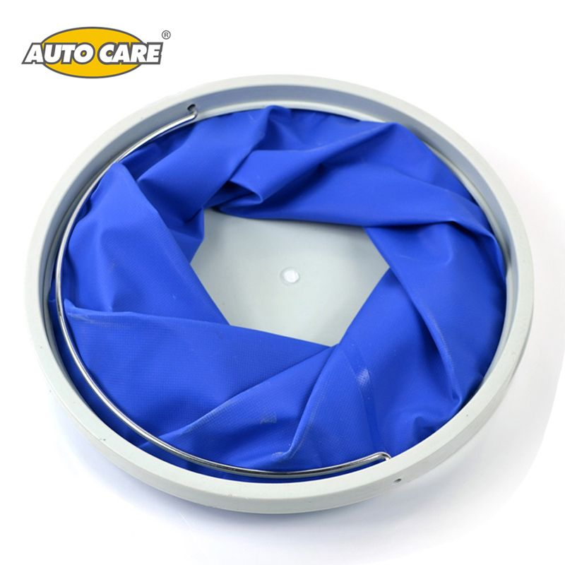 AutoCare 11L Foldable Watering Bucket Collapsible Fishing Bucket Pail Oxford Car Washing