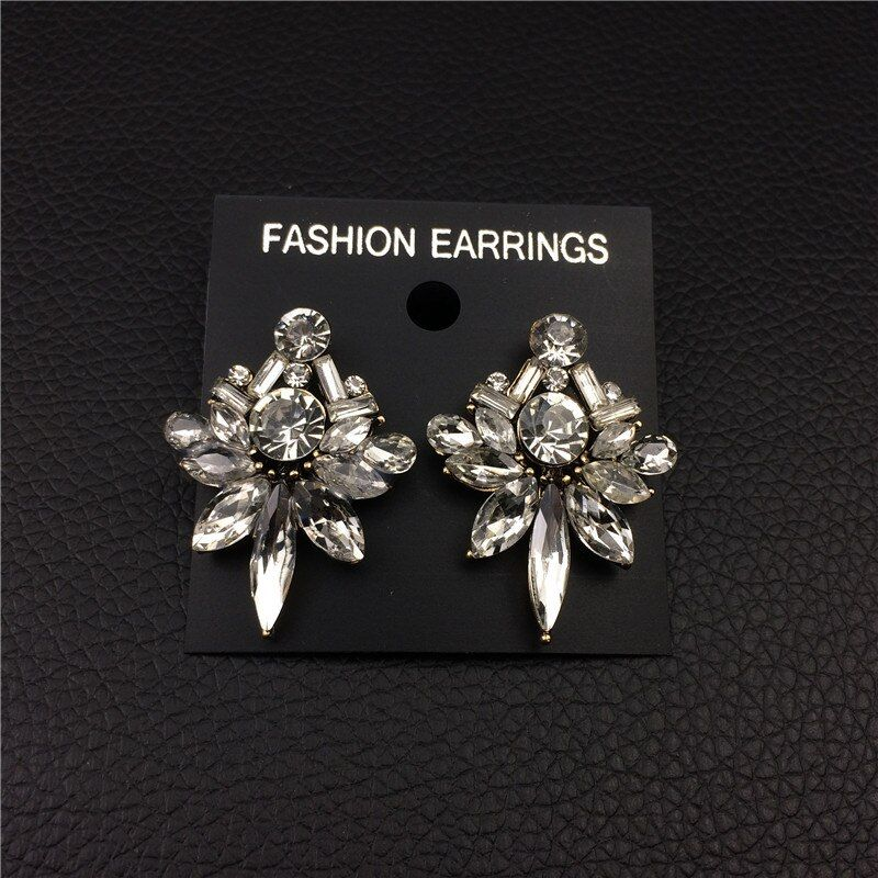 Bohemia Big Drop Earrings for Women Elegant Earrings with Crystal Stones Fashion Jewelry Christmas Gifts Drop Shipping