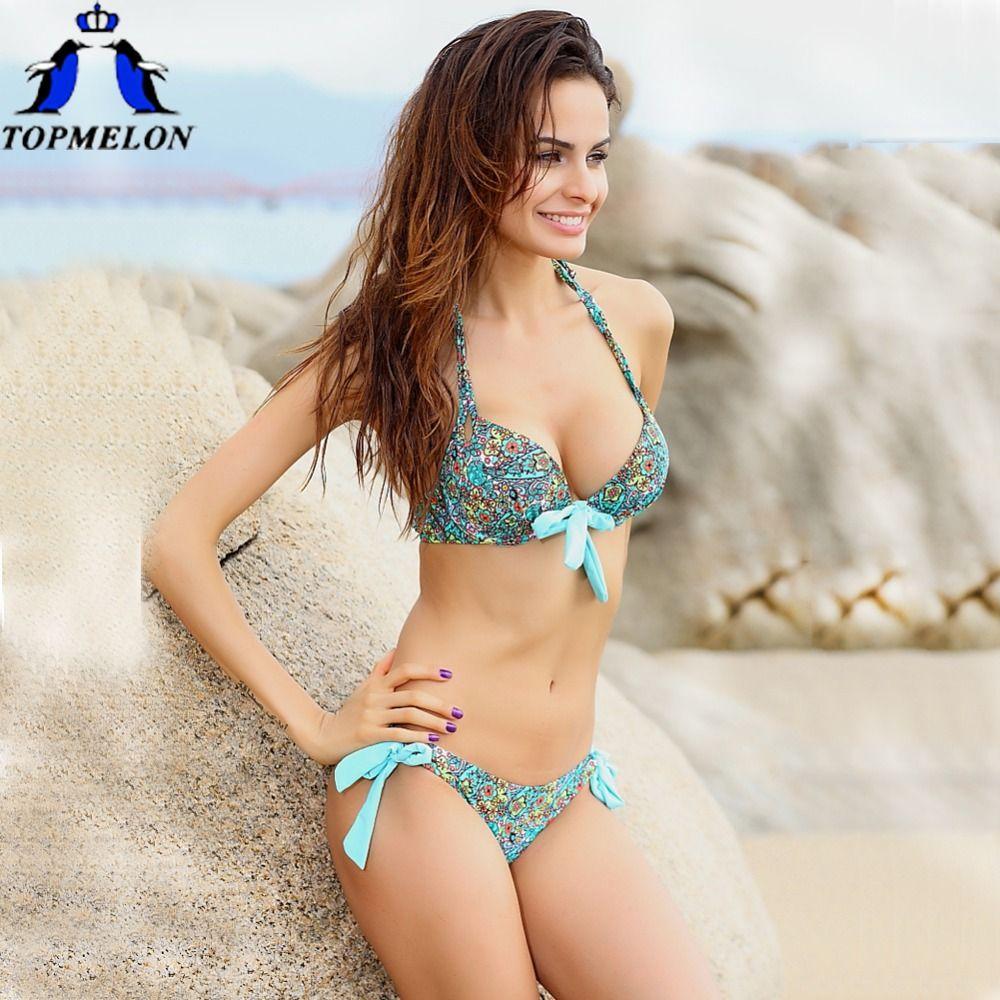 bikini Swimwear Push up swimsuit Women biquinis Bikini Set Swimsuit Lady Bathing suit female swimwear <font><b>swimming</b></font> suit for women