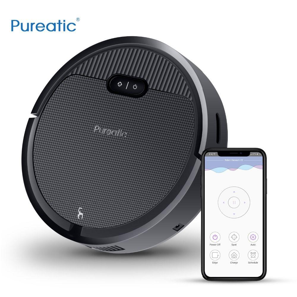 Pureatic V2 Intelligente Roboter Staubsauger App Control Big Saug Automatische Aufladen Plan zeit für Pet Haar Zu Hause mit Mopp