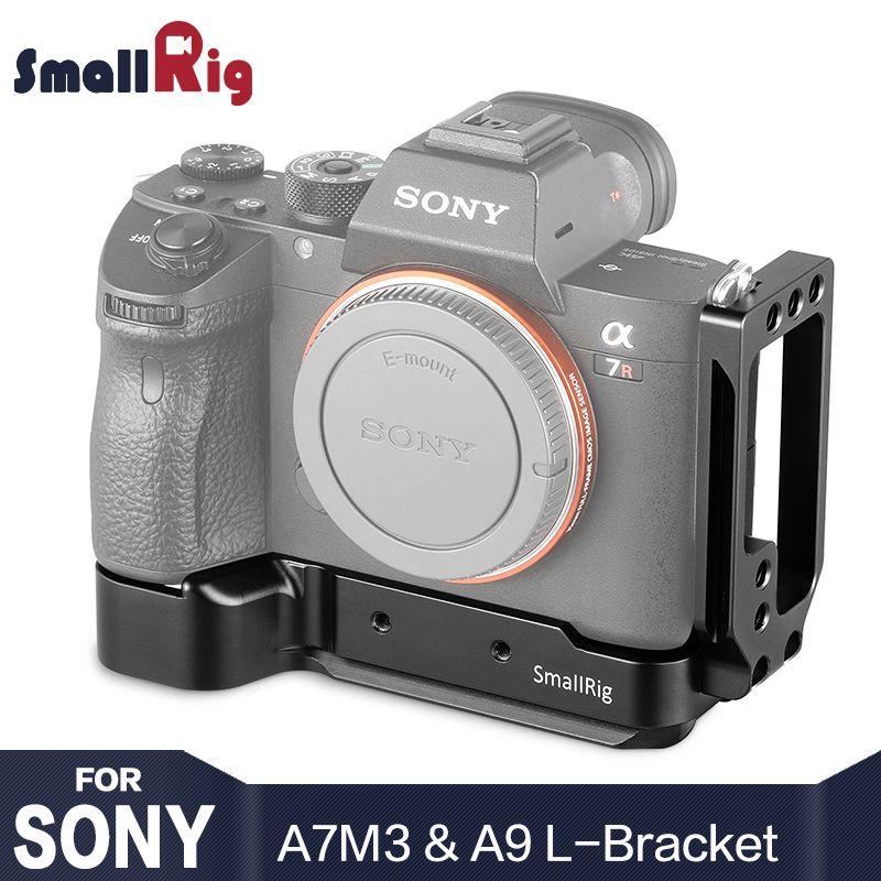 SmallRig A7M3 A7R3 DSLR Camera L-Bracket for Sony A7III / A7RIII / A9 Form Fitting Baseplate & side plate of Arca standard 2122