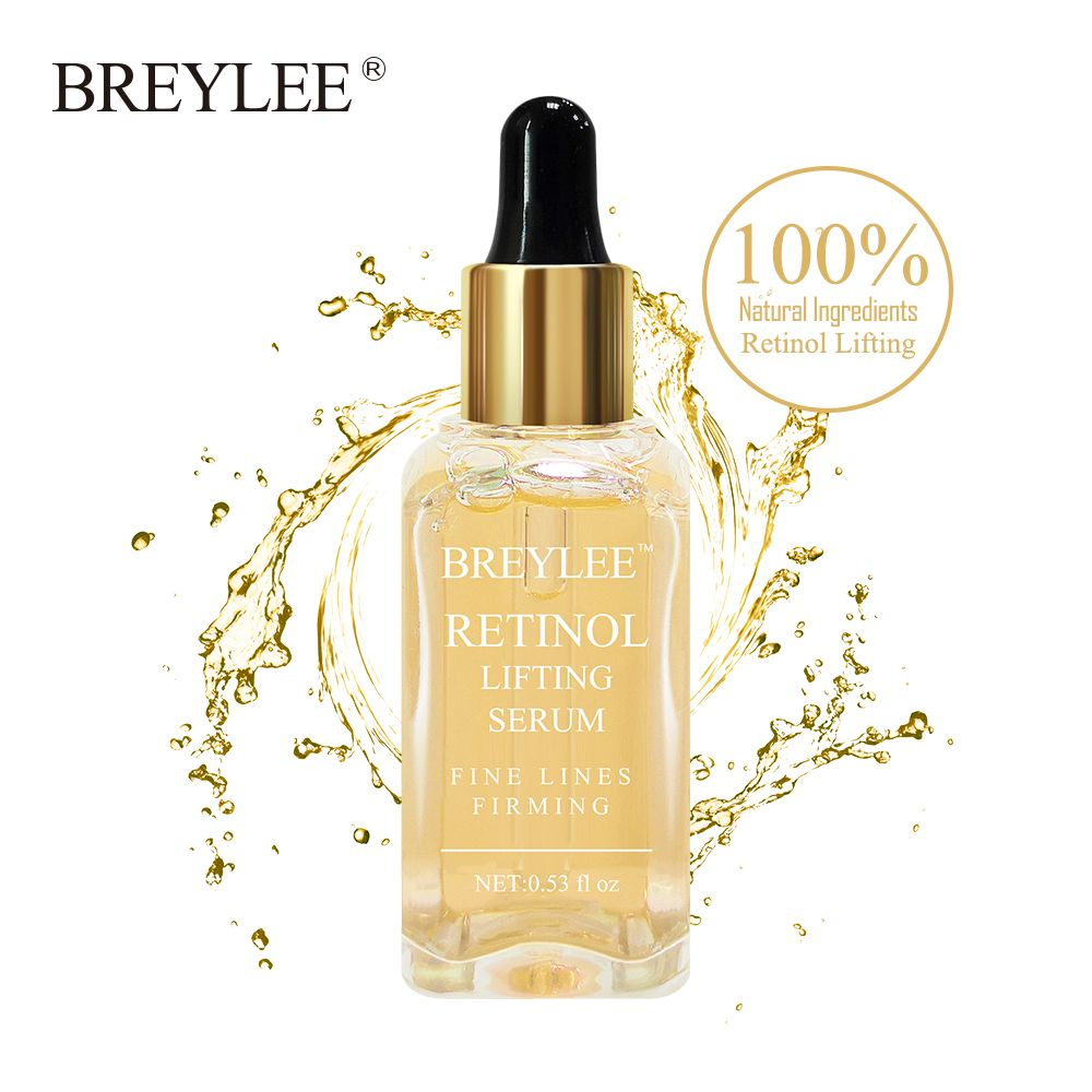 BREYLEE Retinol Lifting Firming Serum Collagen Essence Remove Wrinkle Anti Aging Face Skin Care Fade Fine Lines 100% Natural