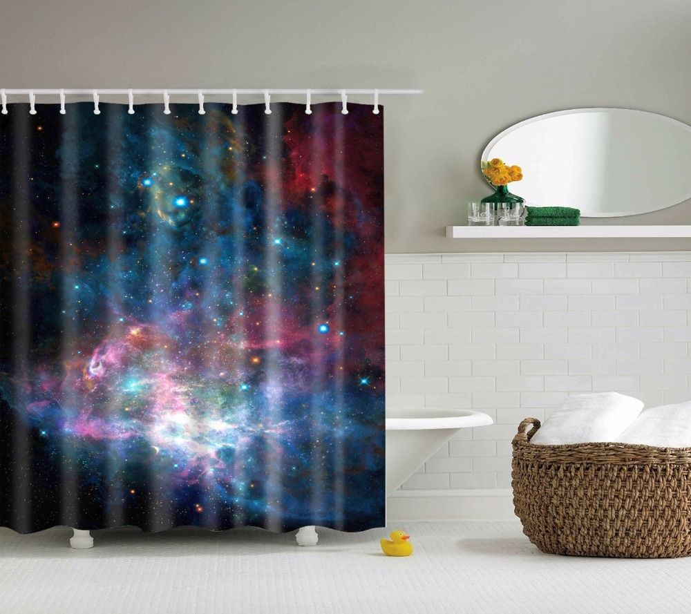 LFH Logo Pattern Home Textile Bathroom Decoration Luxurious Cozy Lovely Decor Fabric Shower Curtain Non-Toxic