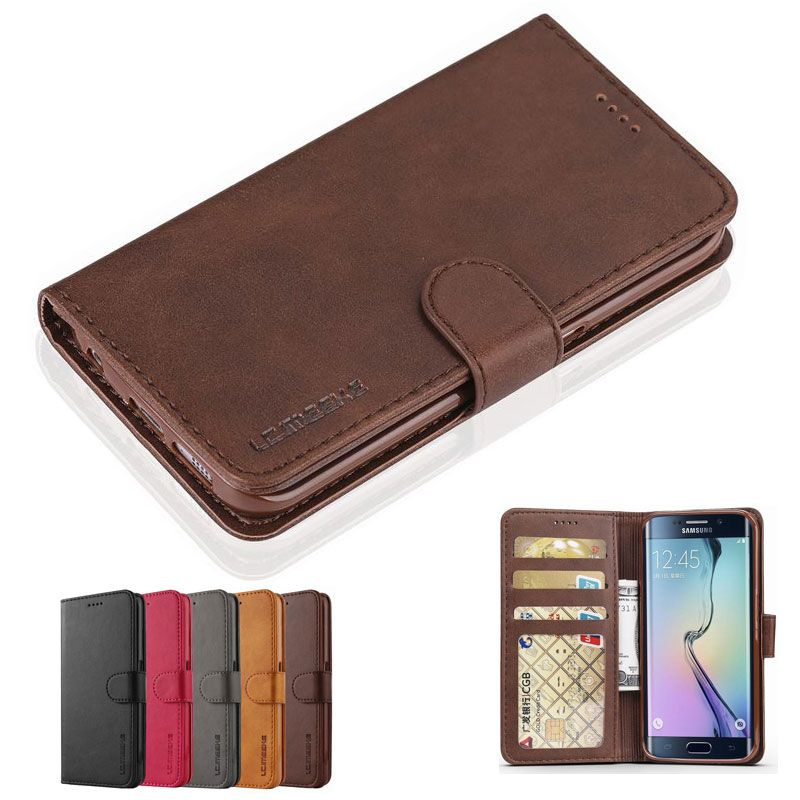 Case For Samsung Galaxy S6 S7 Edge Case Cover Luxury Magnetic Flip Wallet Leather Phone Bag For Samsung S 6 7 s6edge s7edge Etui