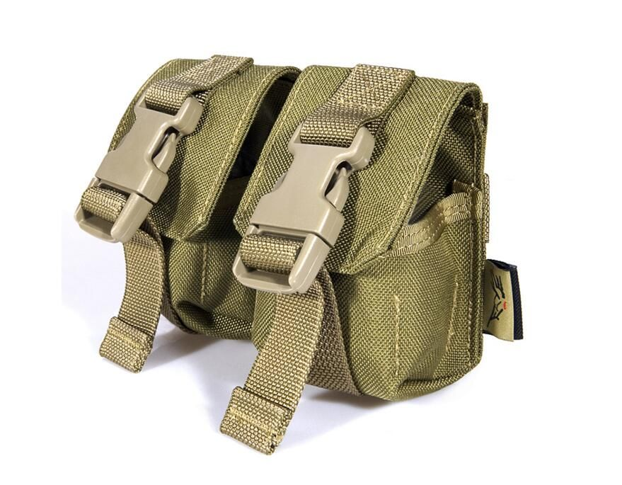FLYYE  MOLLE  Double Fragmention Grenade Pouch Military camping hiking  CORDURA G005