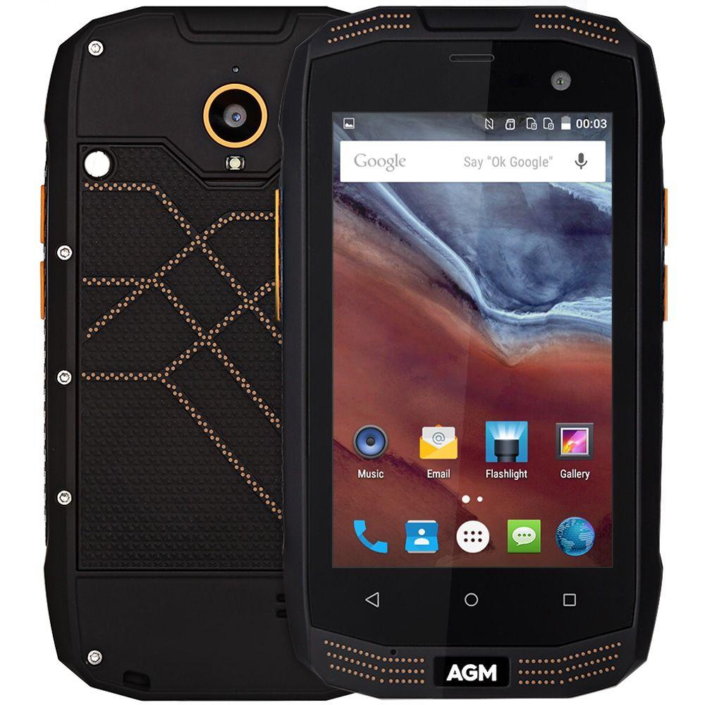 Original AGM A2 IP68 Waterproof 4G Android Mobile Phone 4.0'' Gorilla Glass MSM8909 Quad Core 8MP 2G+16GB 2600mAh Smartphone OTG