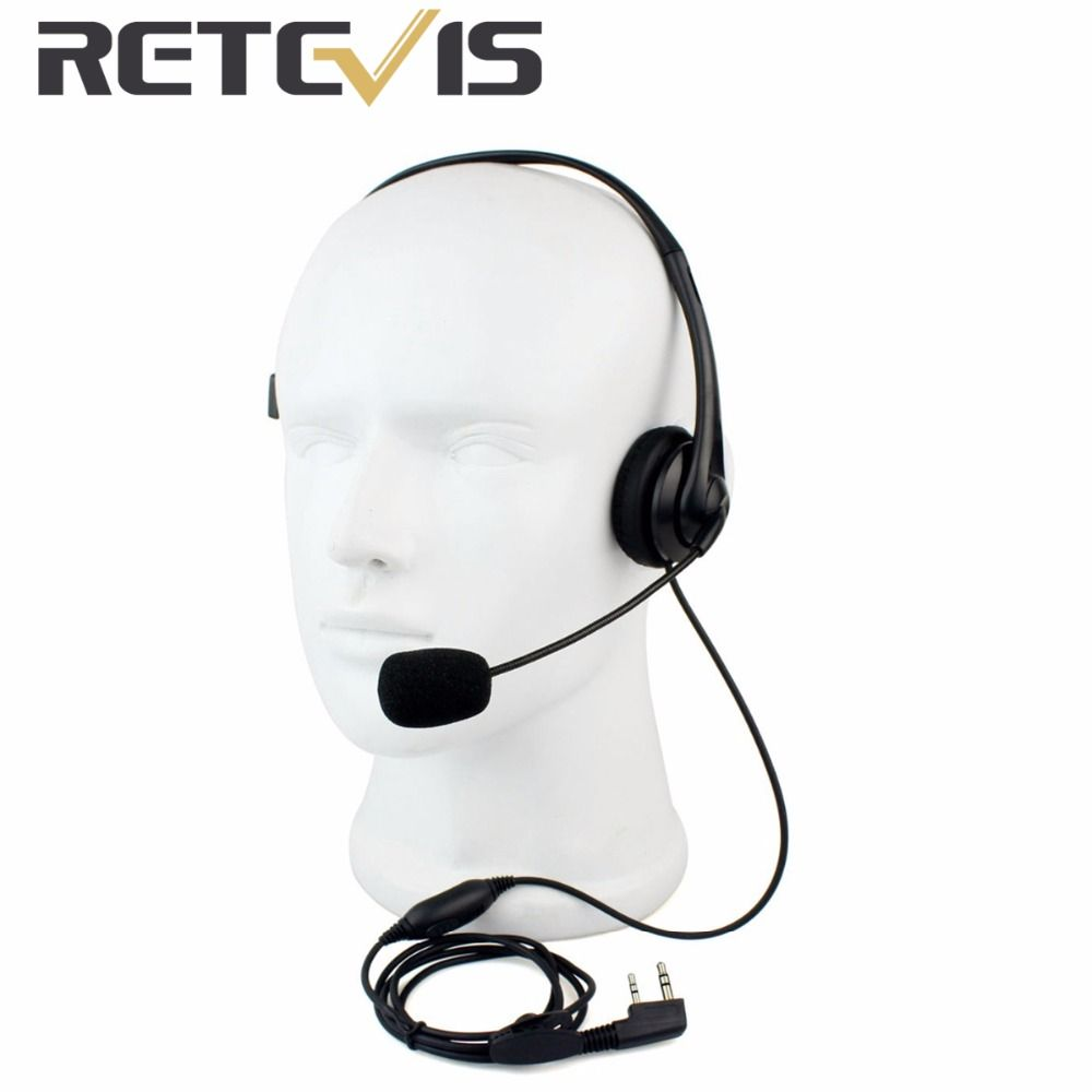 2 Pin PTT Mic Headset for Baofeng Walkie Talkie Earpiece Quansheng Puxing TYT C9009A