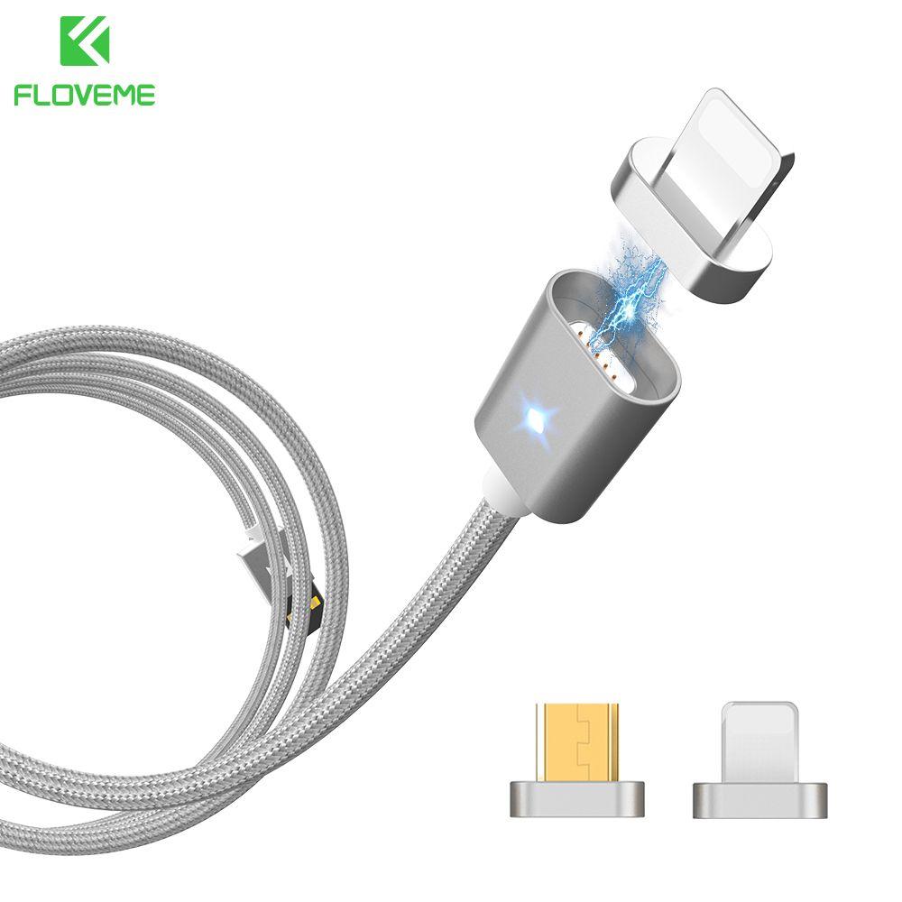 FLOVEME Magnétique USB Câble Pour iPhone 5 6 7 Chargeur Câble magnétique Câble de Recharge Pour Samsung Micro Usb Cable & Magnétique Adaptateur