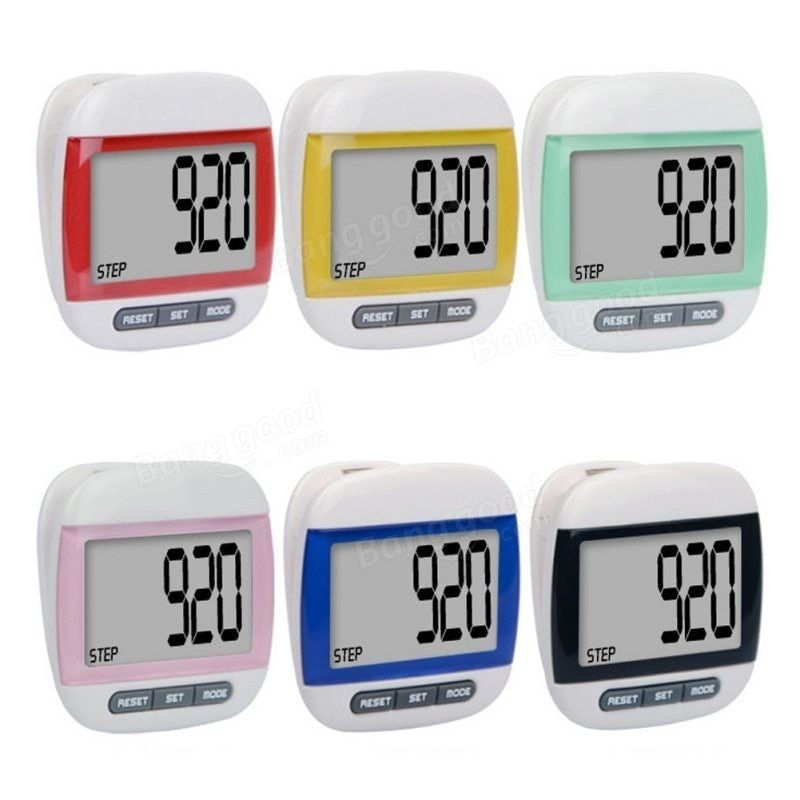 1pcs Multifuction Water-Proof Digital LCD Pedometer Walking Odometer Mini Step Counter Sport Distance Calorie Counter Calculator